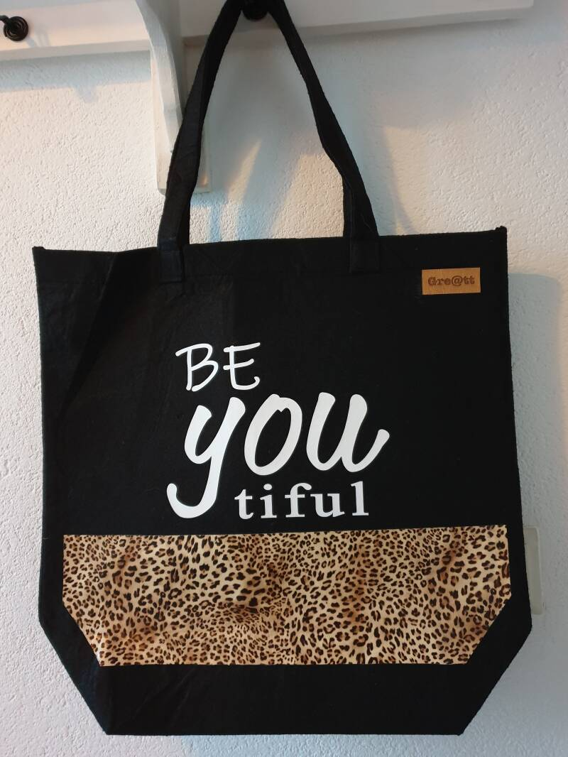 Tas BeYOUtiful met panterprint