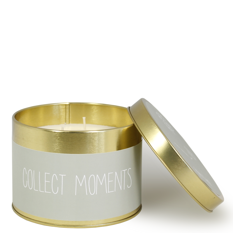 Groot blik soja geurkaars - COLLECT MOMENTS - GEUR: MINTY BAMBOO