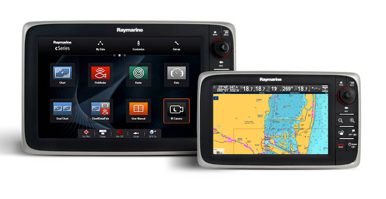 Raymarine Multifunction Displays C-Series
