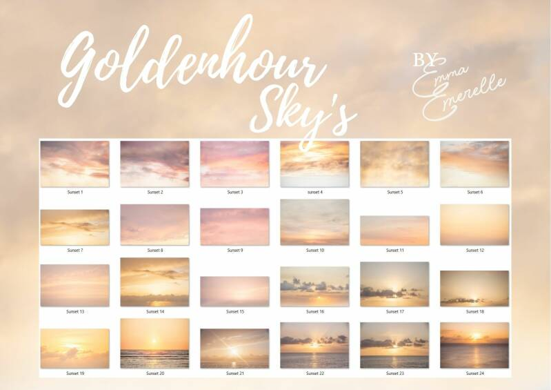 24 Sunset overlays
