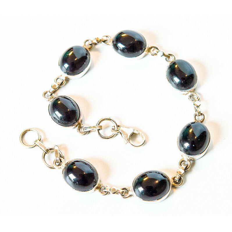 Luxe Onyx armband 21 cm & 925 zilver