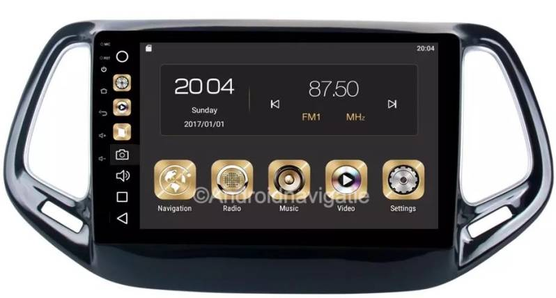 Jeep Compass Android 10.0 Navigatie