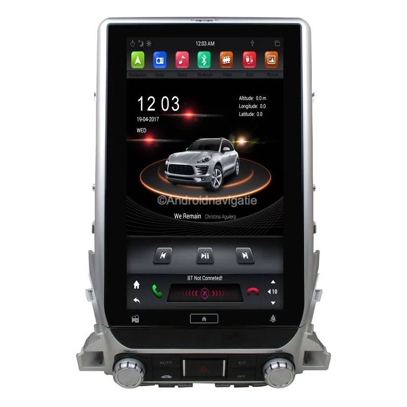 Toyota Land Cruiser LC200 Android 9 Navigatie