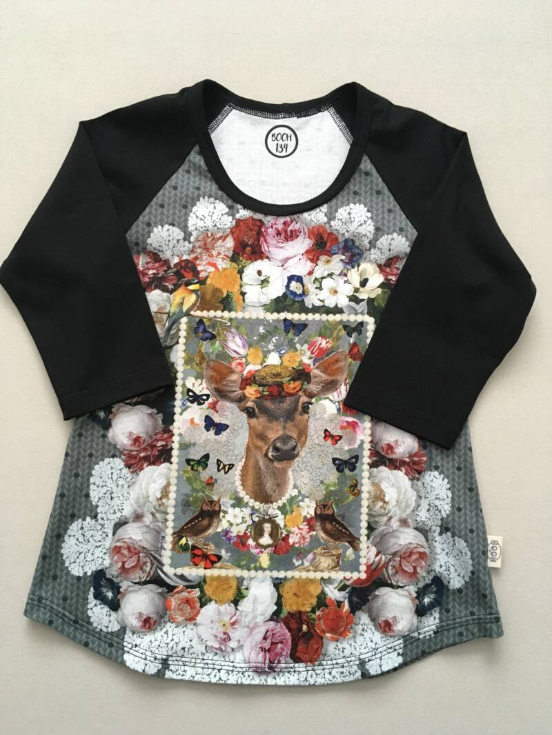 Shirt LIZZY 'Flowers and deer'
