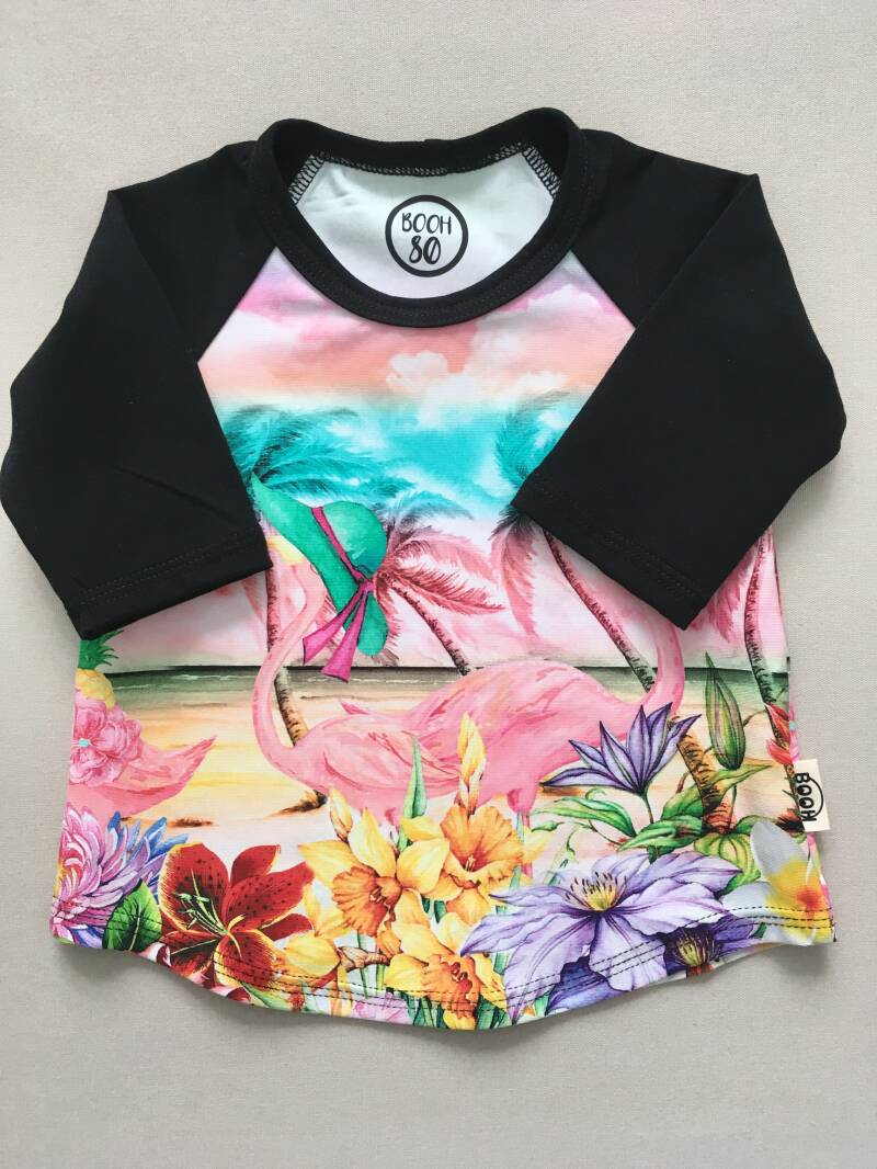 Shirt LIZZY 'Flamingo and flowers'