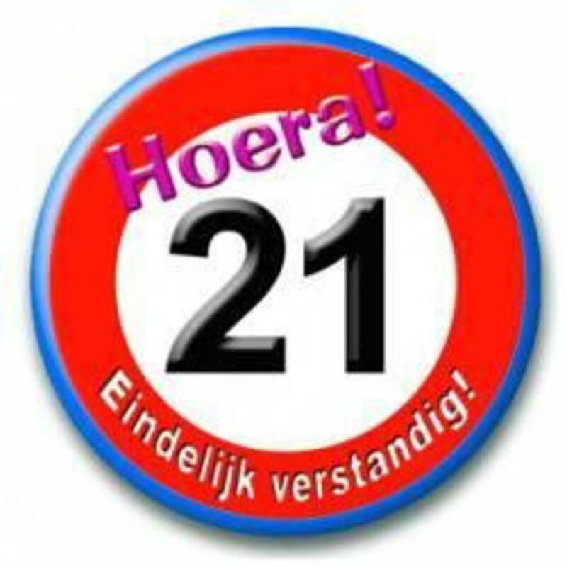 button 21 jaar