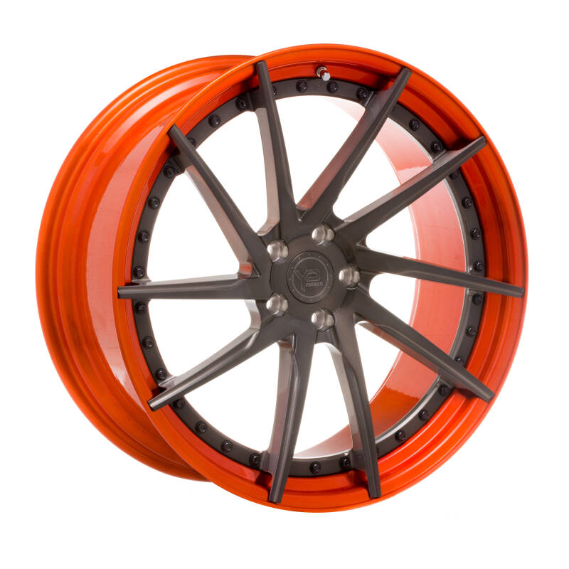 Yido Performance | YP 3.2 | FORGED CUSTOM | Brushed grey/ Candy Orange Lip