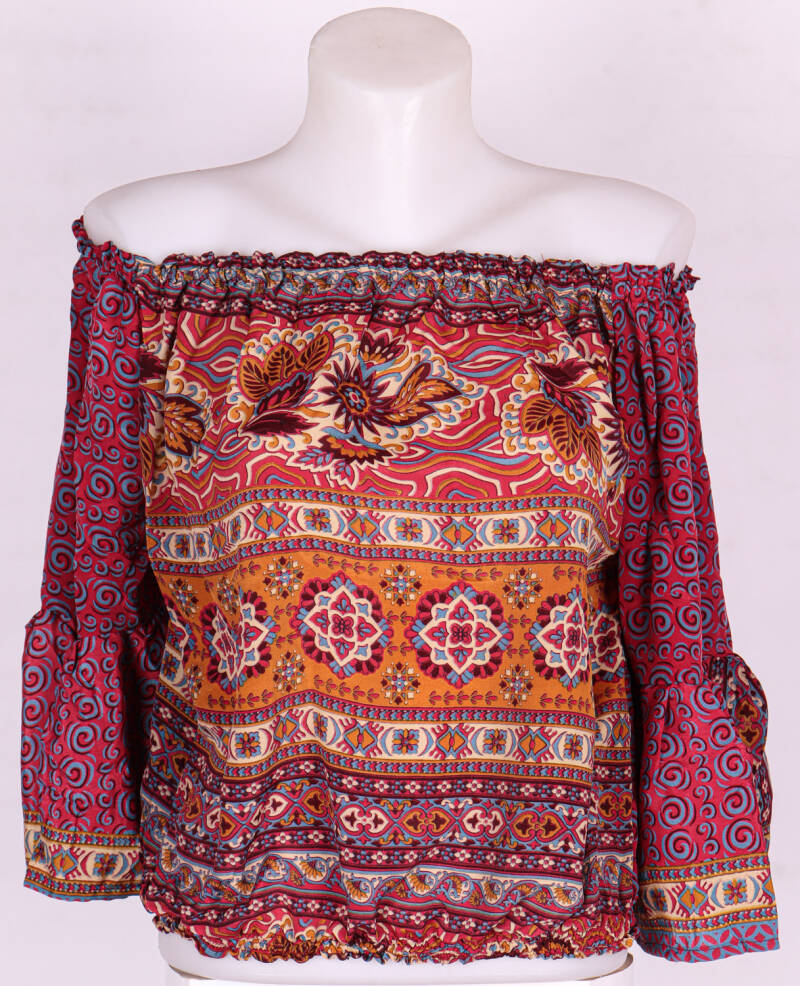 3. Zijde blouse red/orange