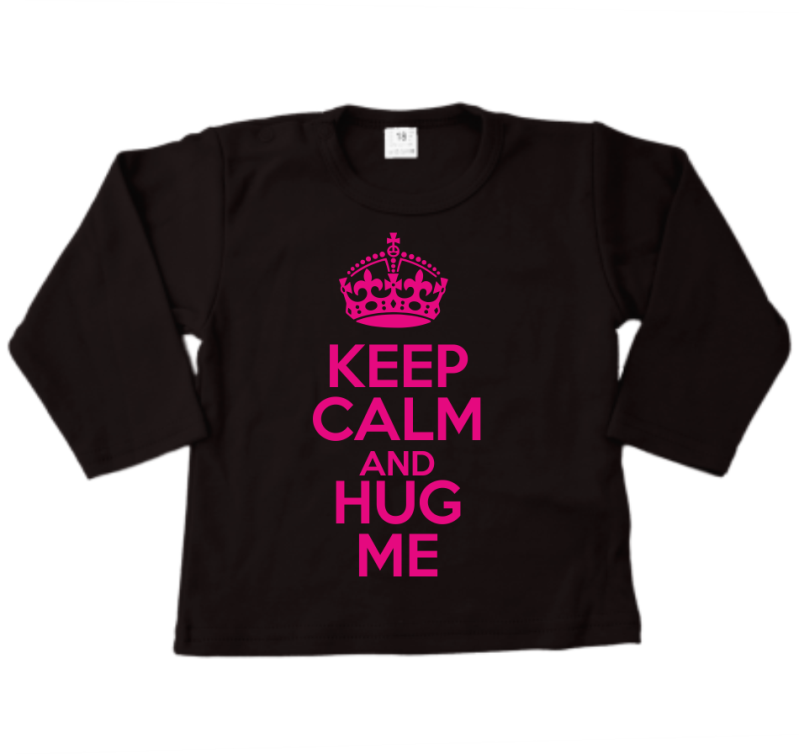 Shirt lange mouw KEEP CALM AND HUG ME