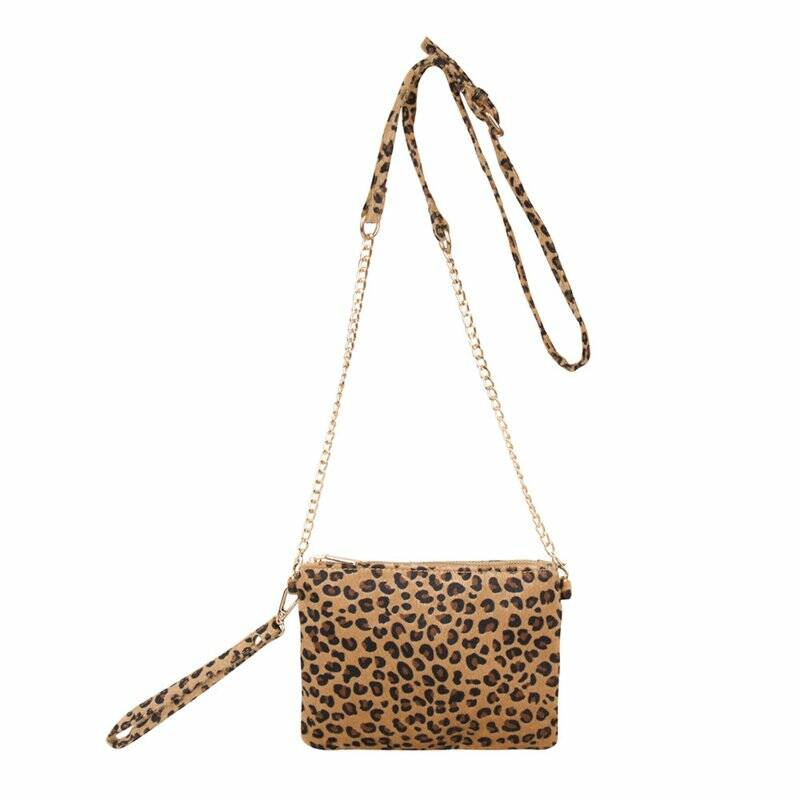 Leopard bag Gold medium