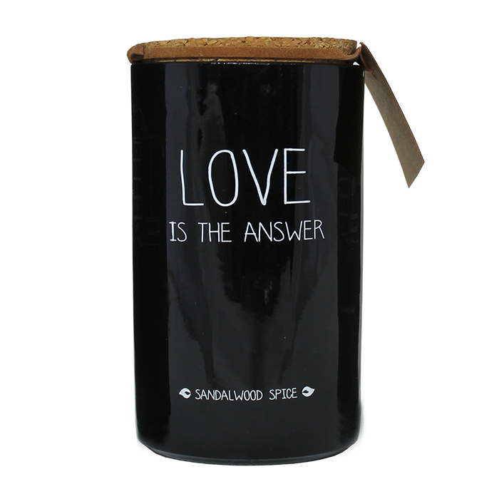 SOJAKAARS – LOVE IS THE ANSWER – GEUR: SANDALWOOD SPICE