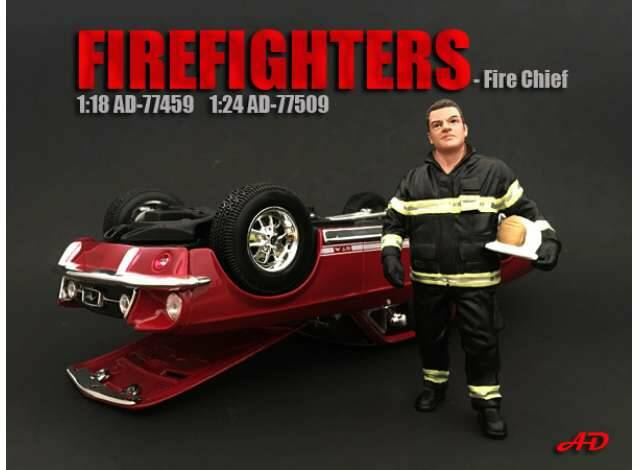 Fire Fighter Figure I *Fire Chief* 1/18