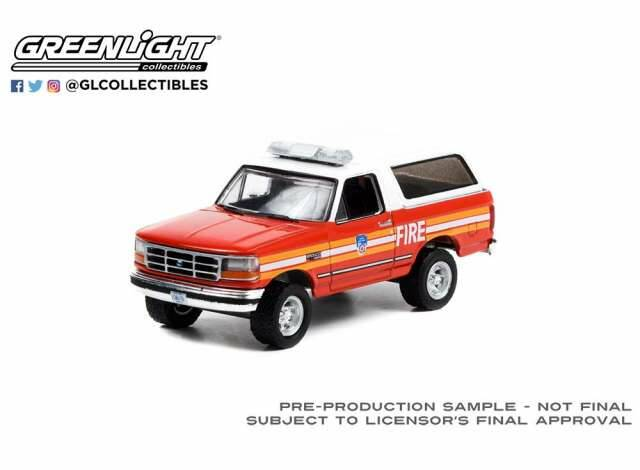 Greenlight - 1996 Ford Bronco *FDNY The Official Fire Department City of New York* 1/18