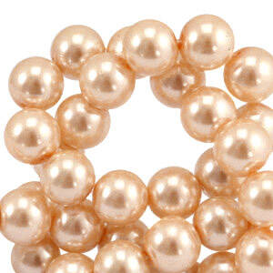 Round Beads Glass 4mm Toasted nut taupe