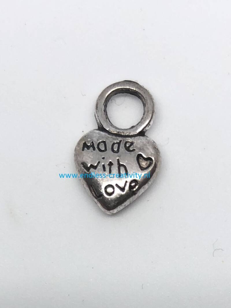 "Bedel Zilver ""Made with Love"" Hartje"