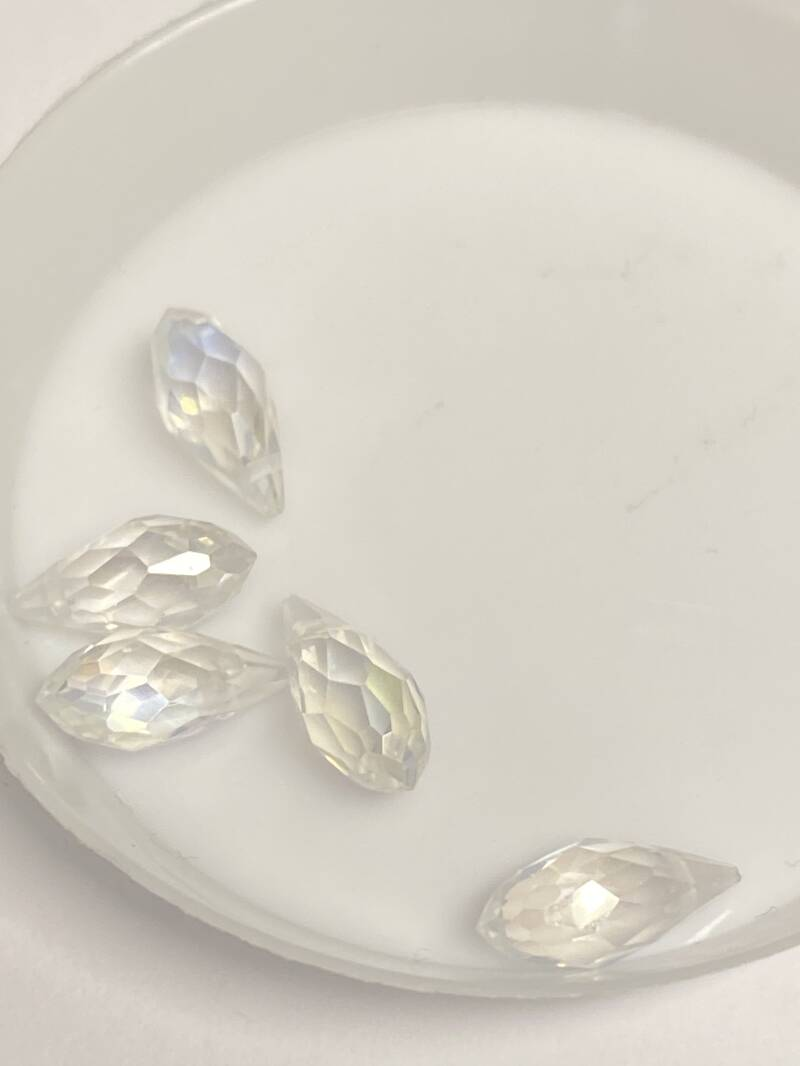 Side Drilled Drop 6x12 Crystal