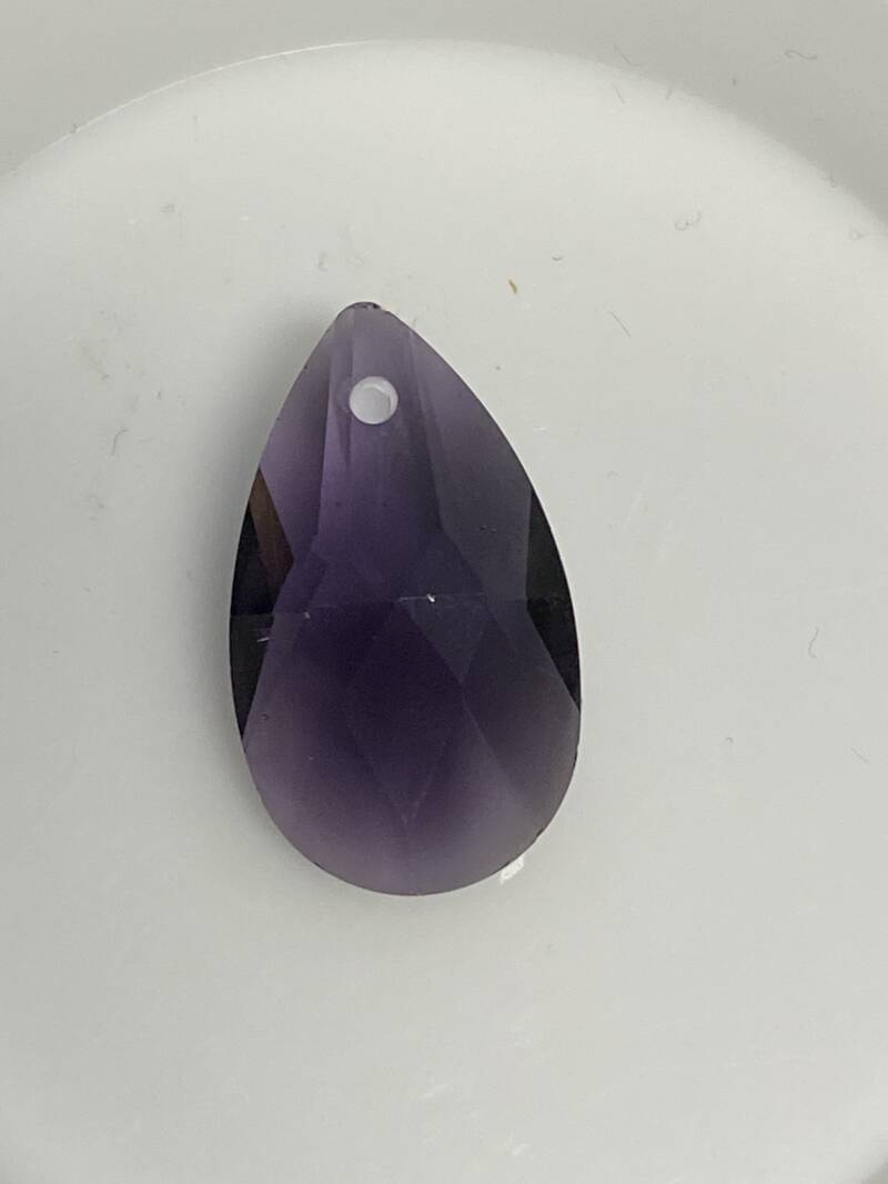 Side Drilled Drop 22x18 Tanzanite