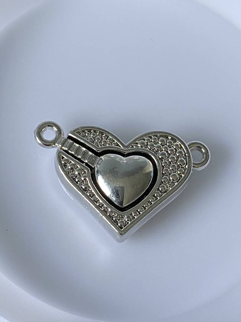 Magnetic clasp 25x15mm Silver tone