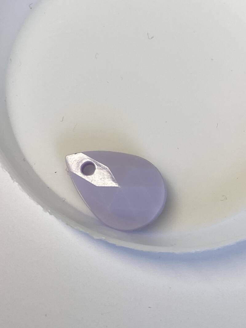 Resin Drop 17x12mm Pastel Purple