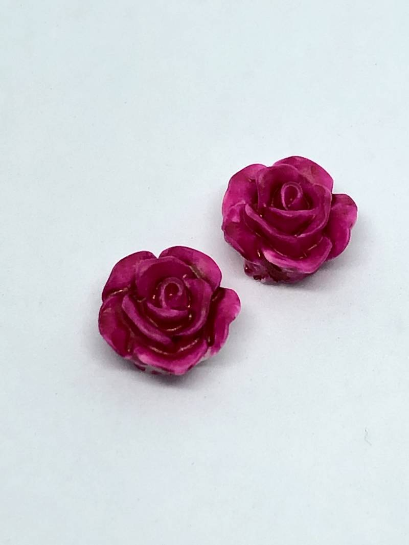 Rose Beads Fuchsia  10mm
