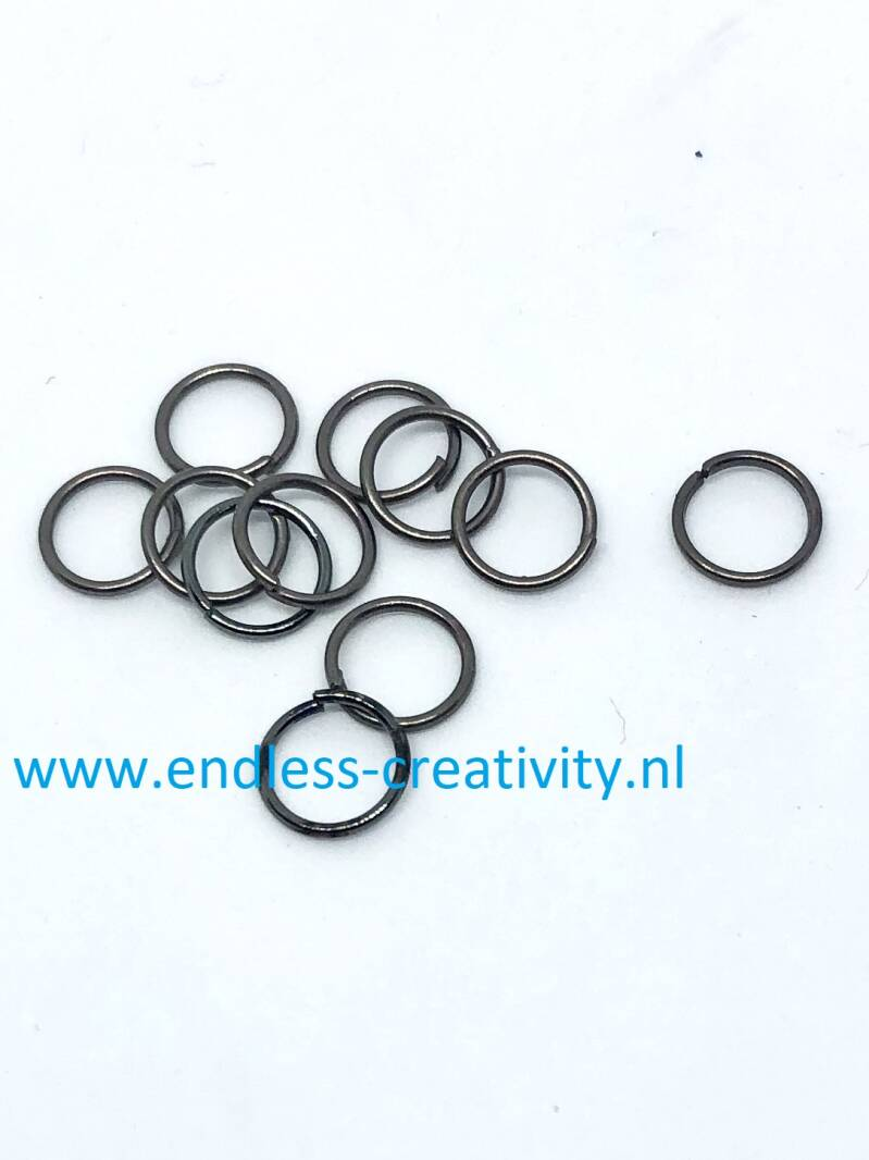 Jumpring anthracite 7mm