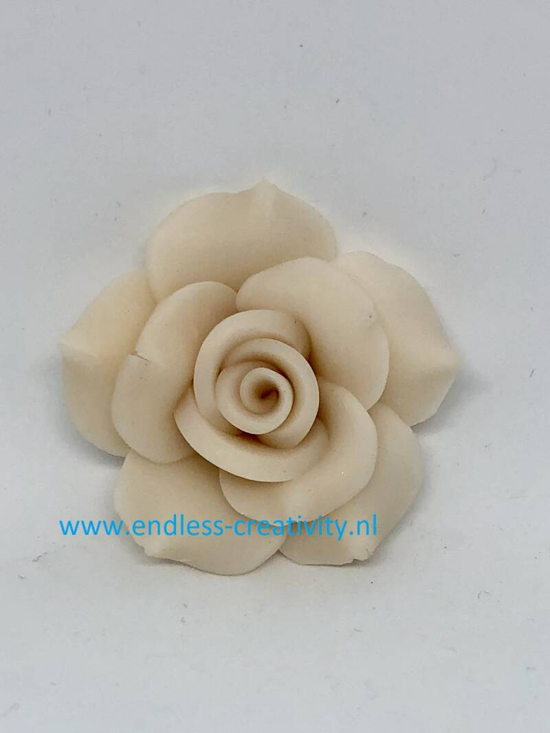 """Rose Polymer Clay """"Off White"""""""