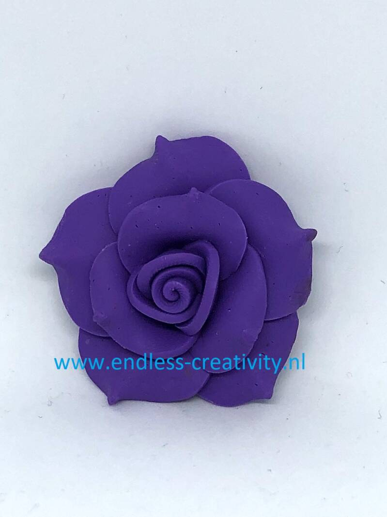 "Rose Polymer Clay ""Donker Paars"""
