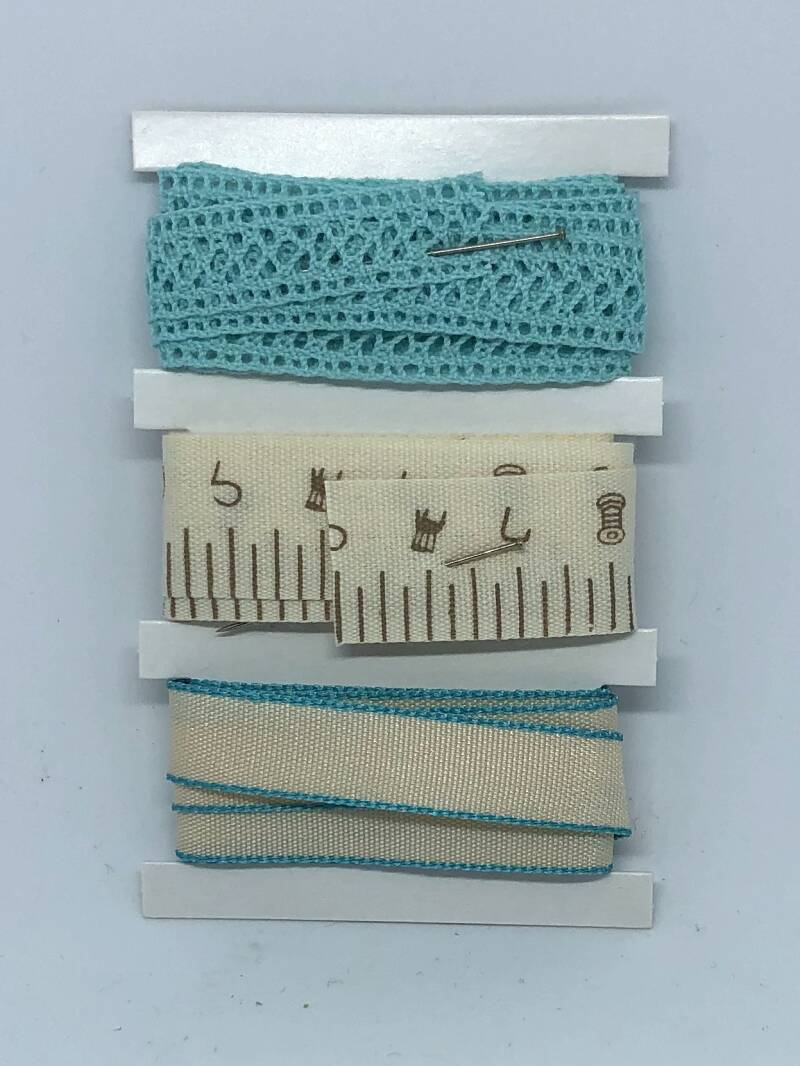 Ribbon Set / Creme Baby Blue