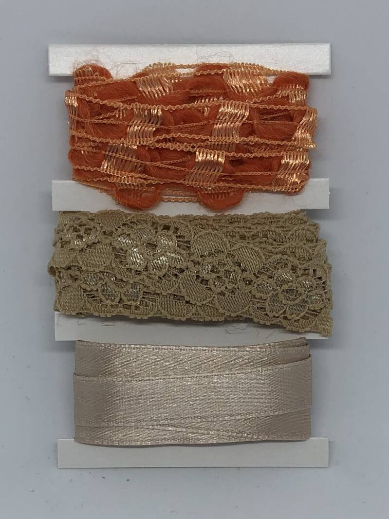 Ribbon Set / Creme Orange
