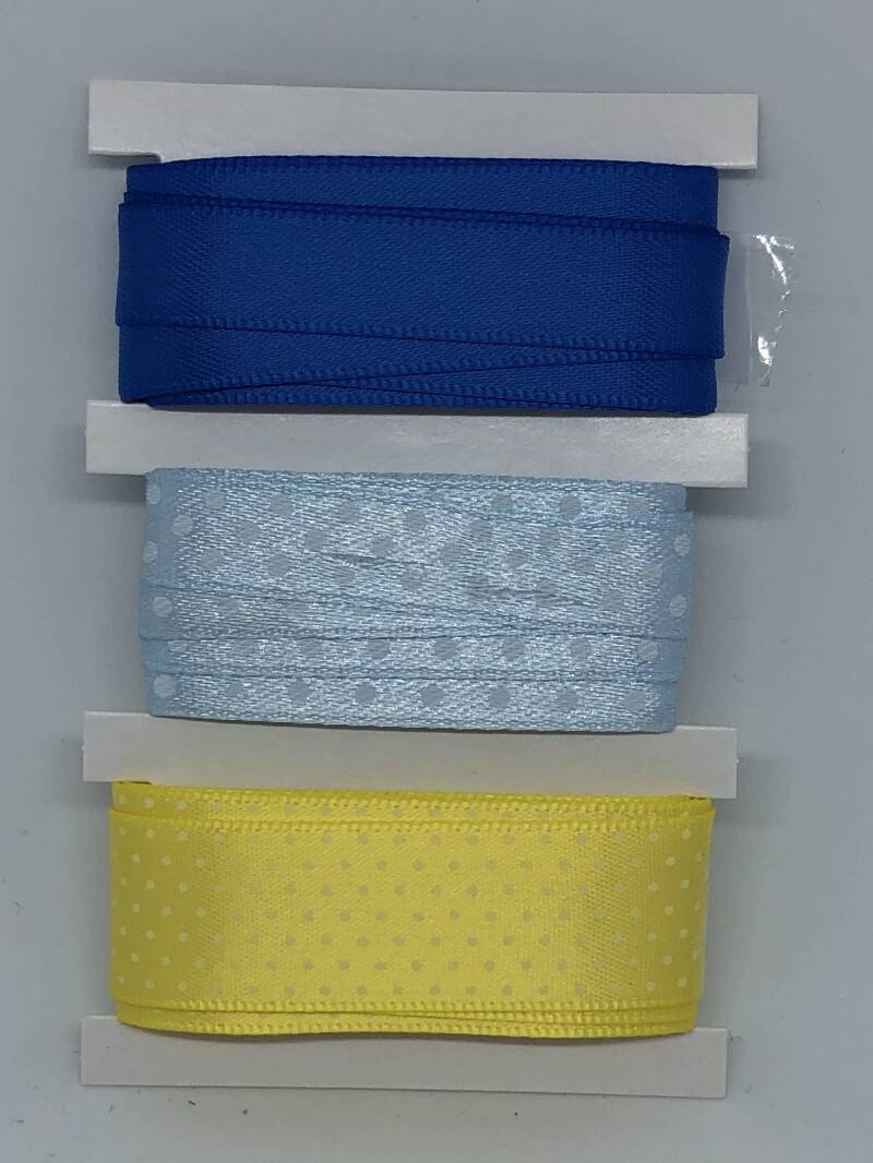 Ribbon Set / Blue / Yellow