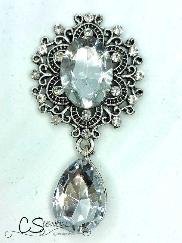 Pendant Silver / Crystal