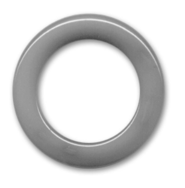 Non Drilled Resin Ring 40mm Chalk Grey (PRE ORDER)