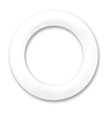 Non Drilled Resin Ring 40mm White