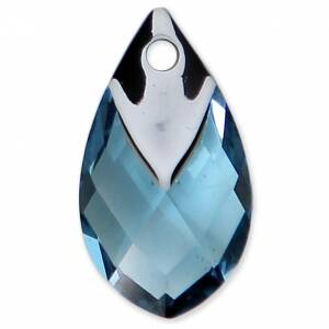 Swarovski Pear Pendant with metalized top 6565 18mm Aquamarine