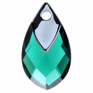 Swarovski Pear Pendant with metalized top 6565 18mm Emerald