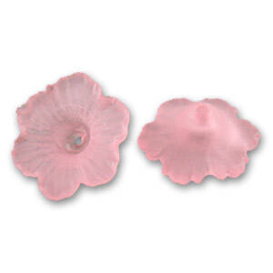 Flower 4x11mm Rose Frosted