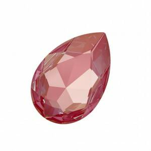 Swarovski Pear 4327 / 30x20mm Crystal Lotus Pink Delite