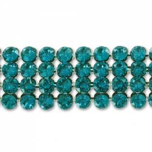 Swarovski Crystal Mesh 40001 3mm Blue Zircon (hotfix)