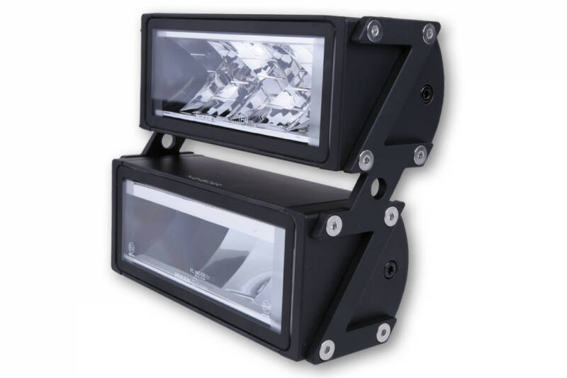 LED headlight set ULTIMATE with Z-holder, black, side mounting