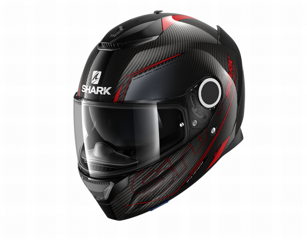 Shark Spartan Carbon 1.2 Silicium carbon/rood/antraciet