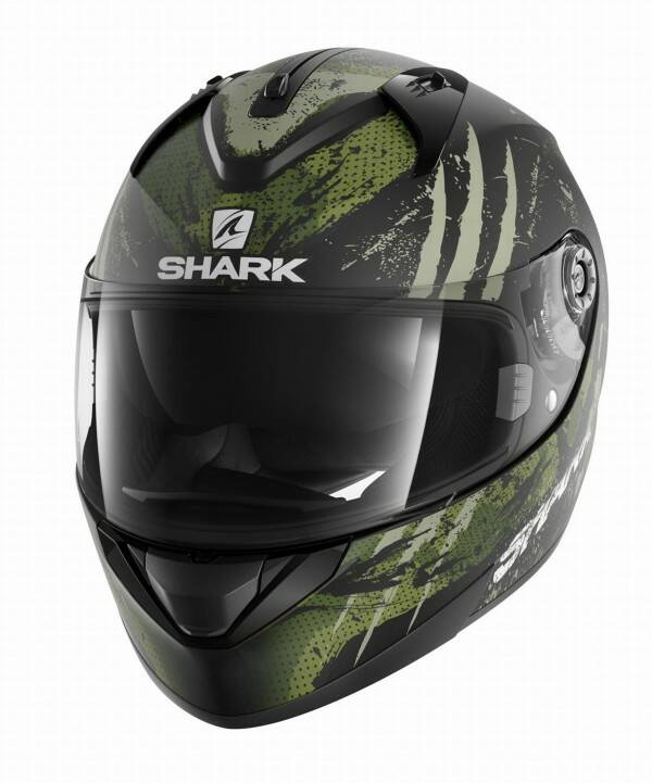 Shark Ridill Threezy Mat mat zwart/wit/groen