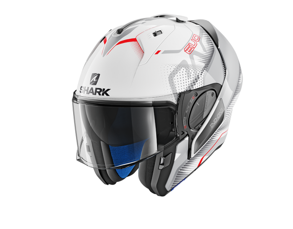 Shark Evo-one 2 Keenser wit/zilver/rood