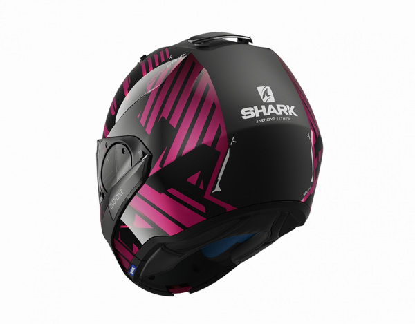 Shark Evo-One 2 Lithion Dual zwart/chroom/paars