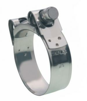EXHAUST CLAMP SS, 55-59MM