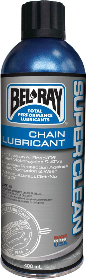 BEL-RAY CHAIN LUBE, SUPER CLEAN 400ML