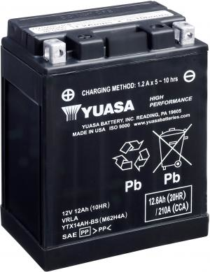 YUASA Battery YTX 12-BS maintenance-free (AGM) incl. acid pack