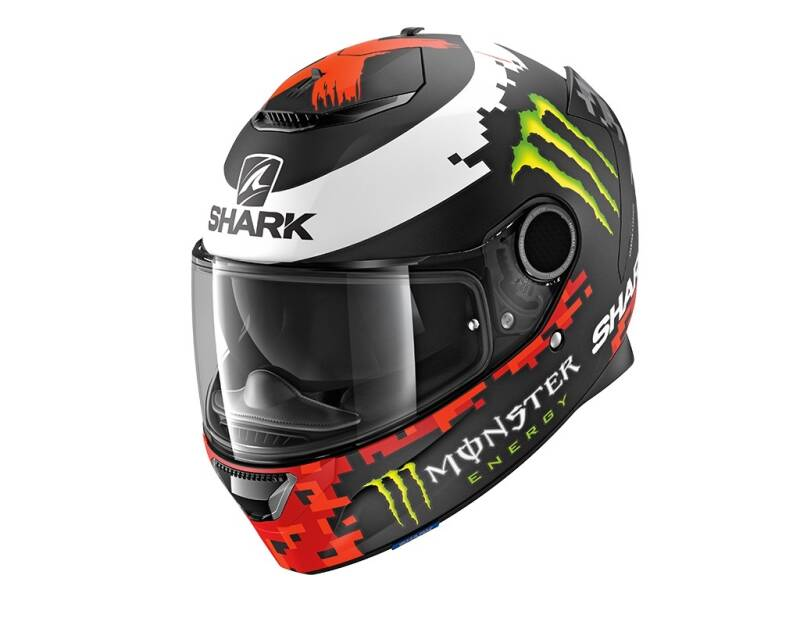SPARTAN 1.2 LORENZO MAT MONST BLACK RED GREEN