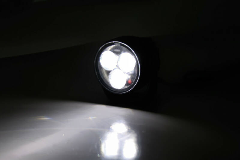 HIGHSIDER LED spotlight SATELLITE, matt black aluminium housing with holder, lens diameter: 50 mm, E-marked.