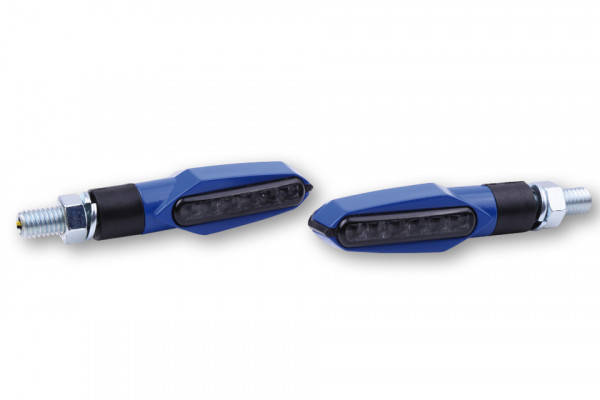 LED turn signal MULTIFACE, tinted glass, E-approved, pair.