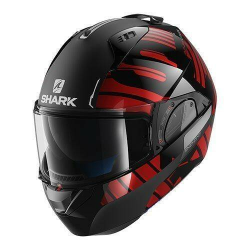 Shark Evo-One 2 Lithion Dual mat zwart/rood